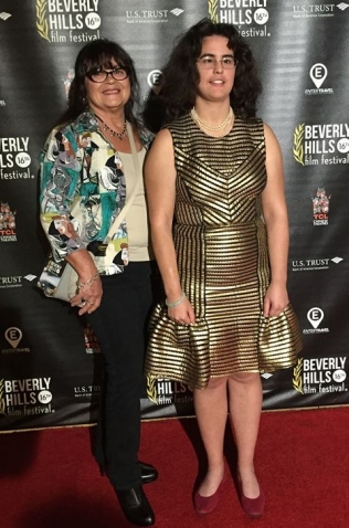 Julia and I at Hollywood Film Fest
