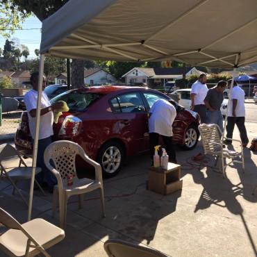Robert washing my car