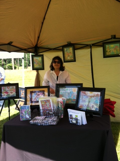 diana at the Art at the Barn faire